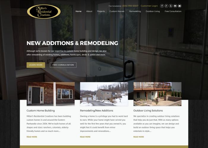 Home builder web design