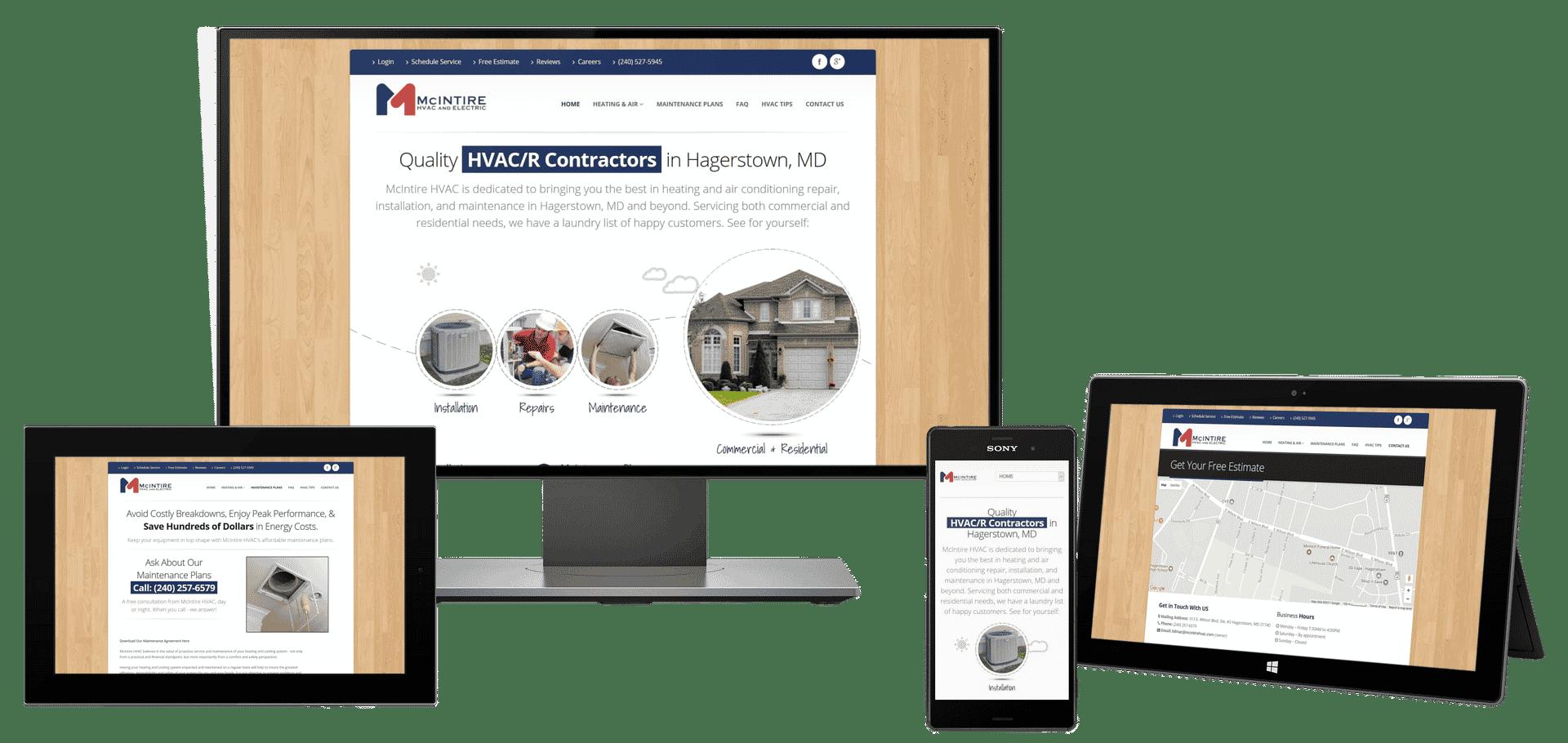 Heating & air company website design