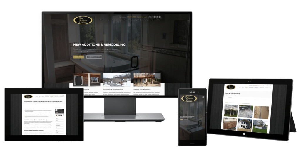 Home Builder Website Design